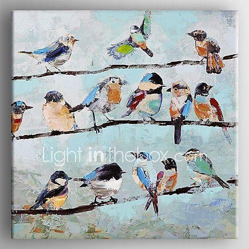 Peint à la main Animal Carré,Traditionnel Un Panneau Toile Peinture à l'huile Hang-peint For Décoration d'intérieur de 2017 ? €69.83