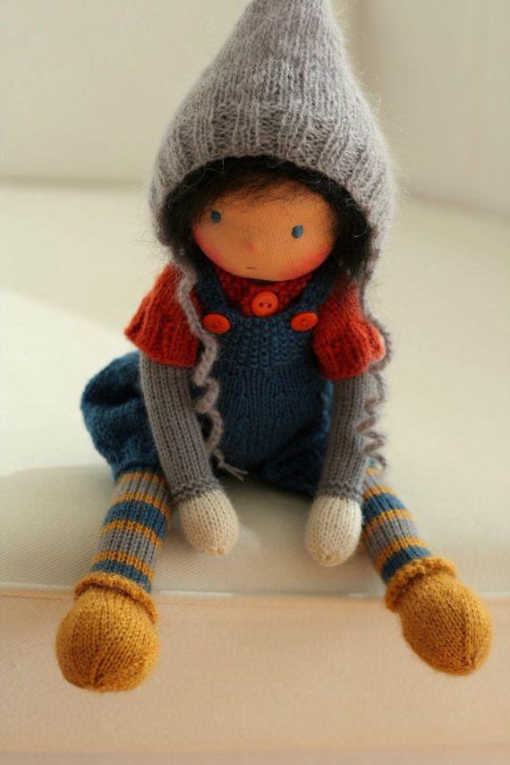 Custom order for Sofia-Waldorf knitted doll 13 by danielapetrova