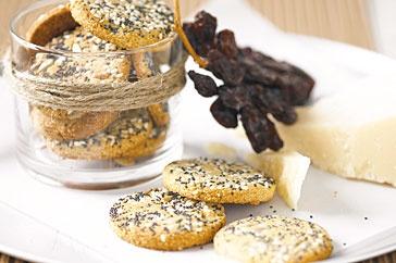 Millet, sesame & parmesan biscuits