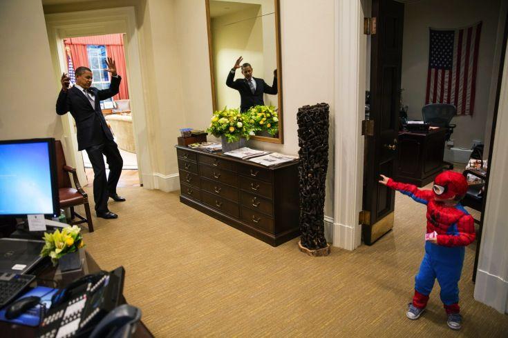 Obama & Spiderman alla Casa Bianca.  POTUS & Spiederman in The White House!
