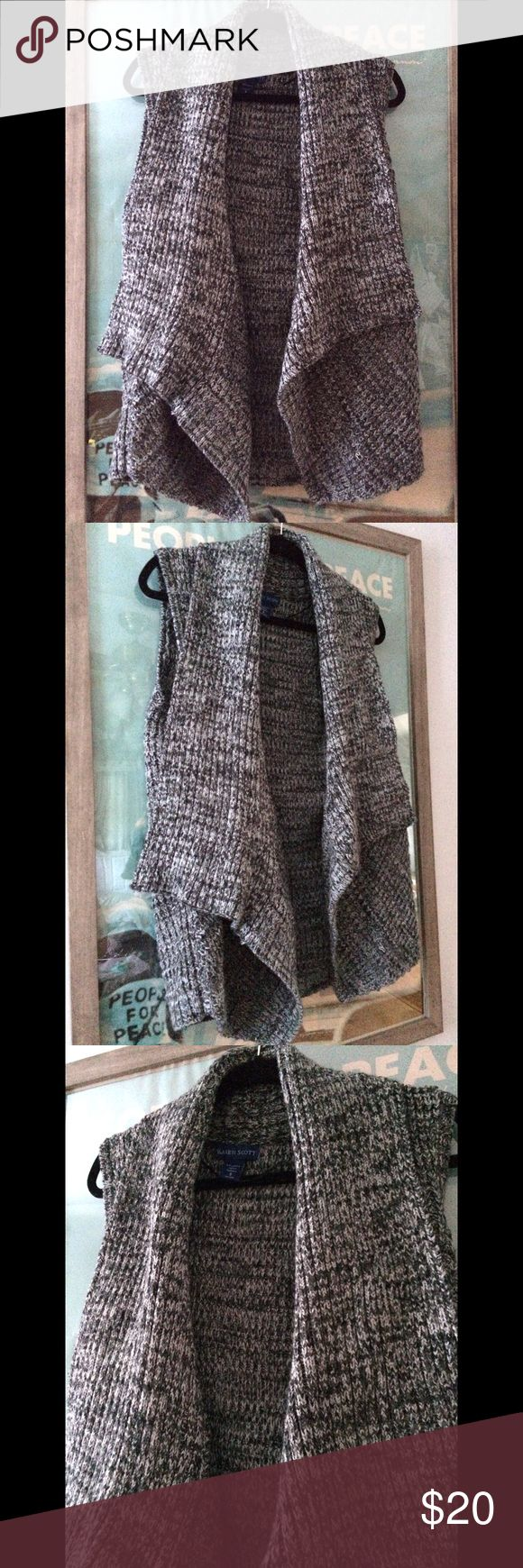 Karen Scott Sweater Vest New without tags. The color is a bluish gray hue. 20 inches across waist, 28 inch length. Perfect for winter layering. Make an offer or bundle to save. 🤗 Karen Scott Jackets & Coats Vests