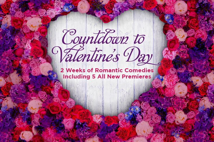 Countdown to Valentine's Day with Hallmark Channel! Enjoy two weeks of romantic comedies, including five new premieres!