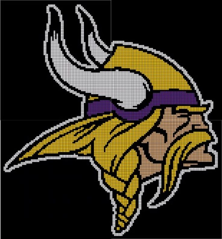 Minnesota Vikings Crochet Pattern Afghan Graph 3 5