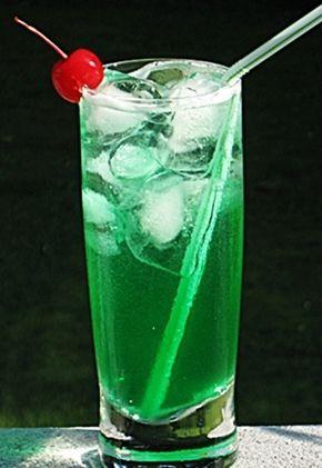 Emerald City: Malibu Coconut Rum, Midori Melon Liqueur, Blue Curacao, Sweet & Sour Mix, 7-Up
