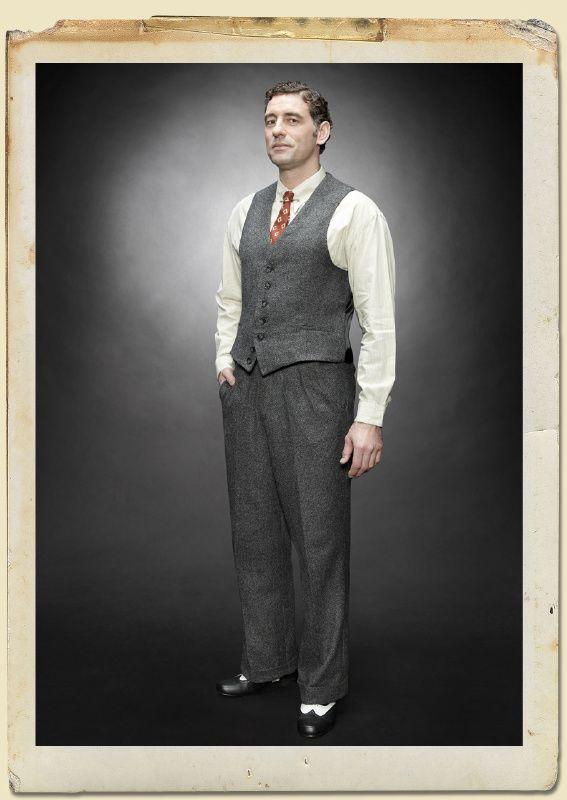 1930's Herringbone Henri trousers