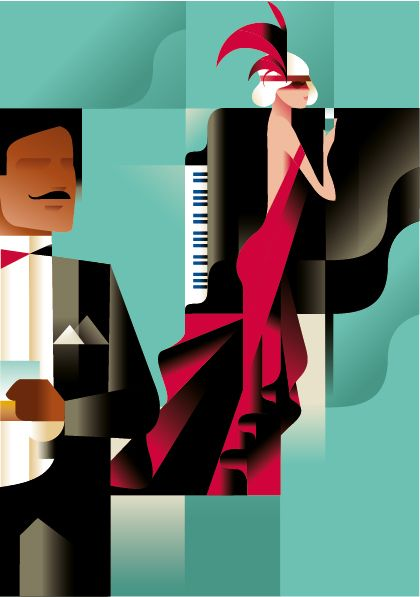 Poster by Danish artist Mads Berg, known for a style which translates classic poster art into a modern and timeless look.