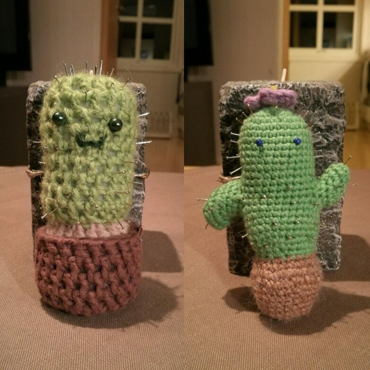 A side by side comparison of before and after learning how to crotchet amigurumi :3