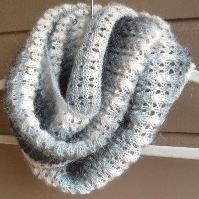 Free Knitting Pattern – Simple Lace and Mohair Scarf