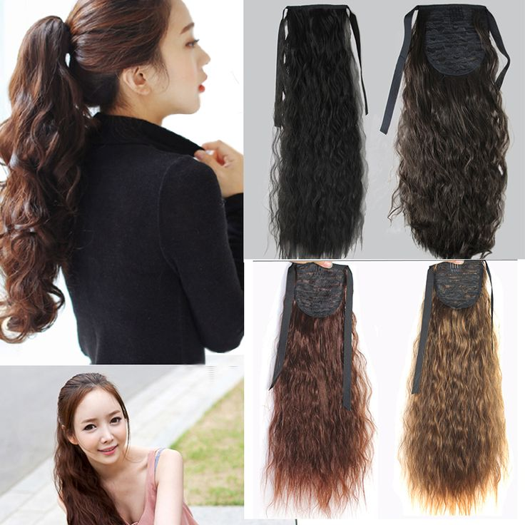 400 best hair extension synthetic hair images on pinterest synthetic jumbo wavy crochet braids wrap around fake hair extension false hair ponytails pad hairpiece pony pmusecretfo Choice Image