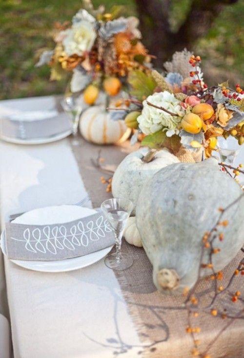 Best 25 pumpkin table decorations ideas on pinterest for White pumpkin table decorations
