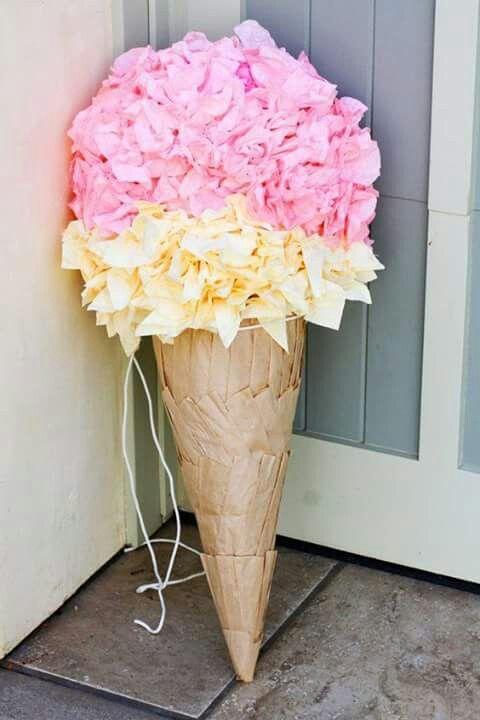 Piñata de helado