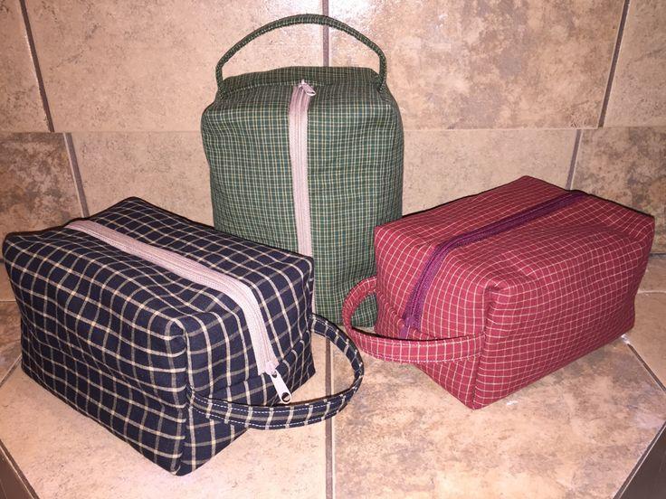 Free 1 hour Dopp kit tutorial | DIY men's toiletry bag, sewing for men.