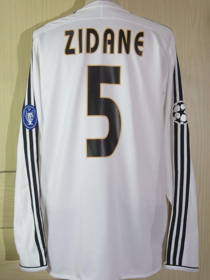 ZIDANE ZINEDINE #5 CHAMPIONS LEAGUE 2004 REAL MADRID Football LONGSLEEVED SHIRT ADIDAS XL in Sports Mem, Cards & Fan Shop, Fan Apparel & Souvenirs, Soccer-International Clubs | eBay