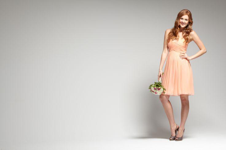 34 best Pale Peach Bridesmaid Dresses images on Pinterest | Bridal ...