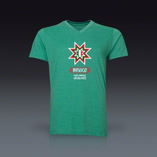 Mexico Copa America 2015 Banderas V-Neck T-Shirt   SOCCER.COM