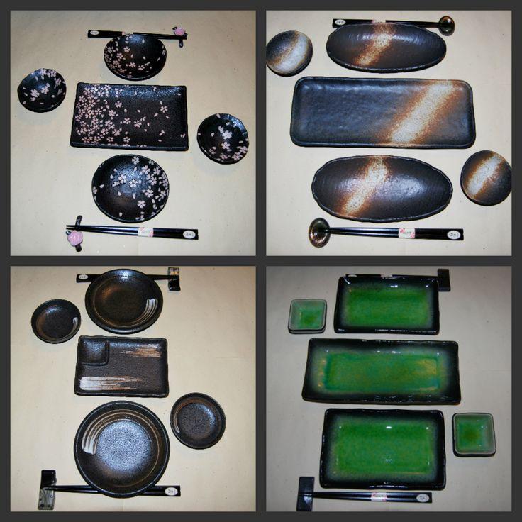 Set piatti da sushi disponibili su www.artigianatogiapponese.it