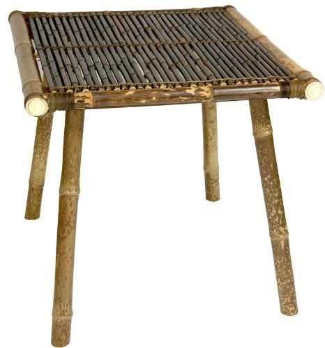 bamboo table | this simple bamboo table is a tropical island classic hand