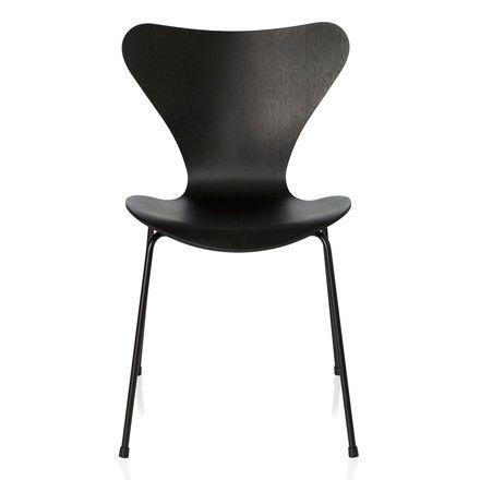 Fritz Hansen – Serie 7 stol, monokrom sort, 46,5 cm