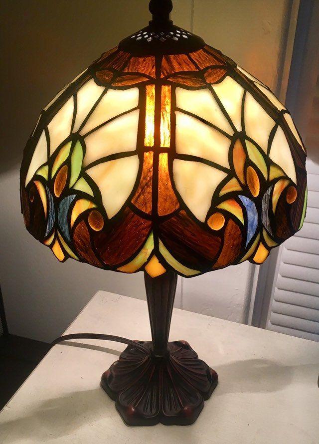1928 Vintage Tiffany Style Lamp Small Etsy Tiffany Style Lamp Lamp Stained Glass Lamp Shades Small tiffany style lamp