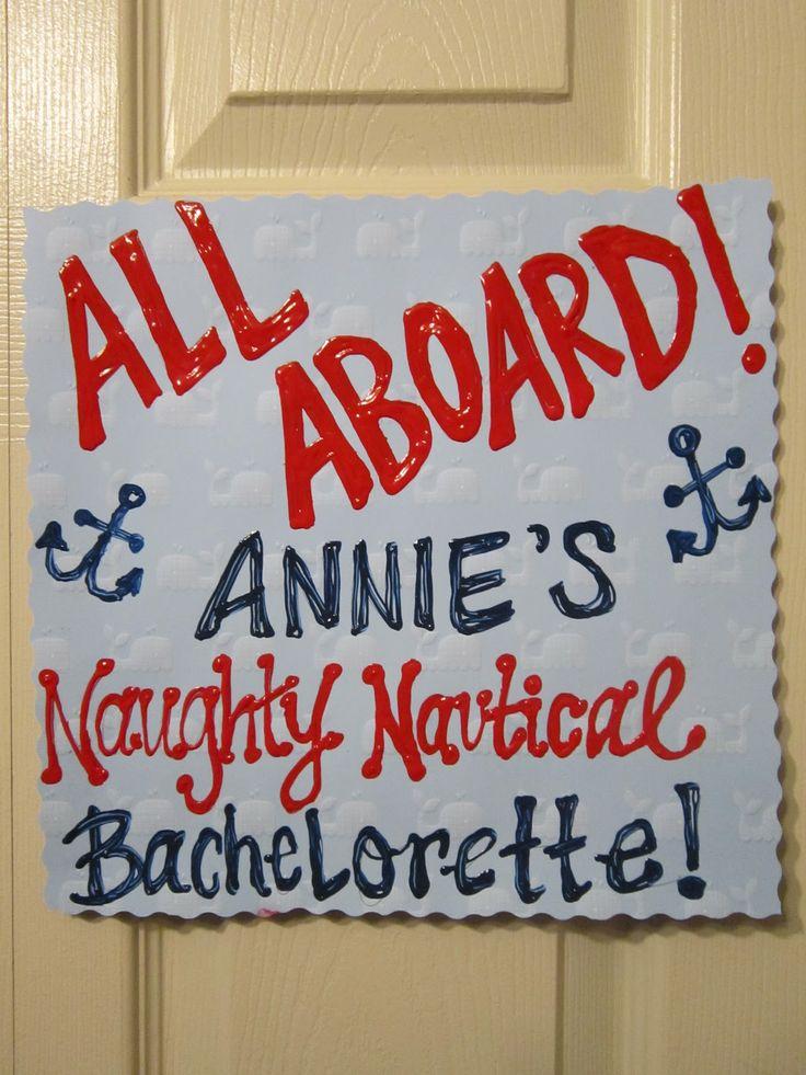 bachelorette nautical party ideas | SIS STYLE: DIY Naughty Nautical Bachelorette