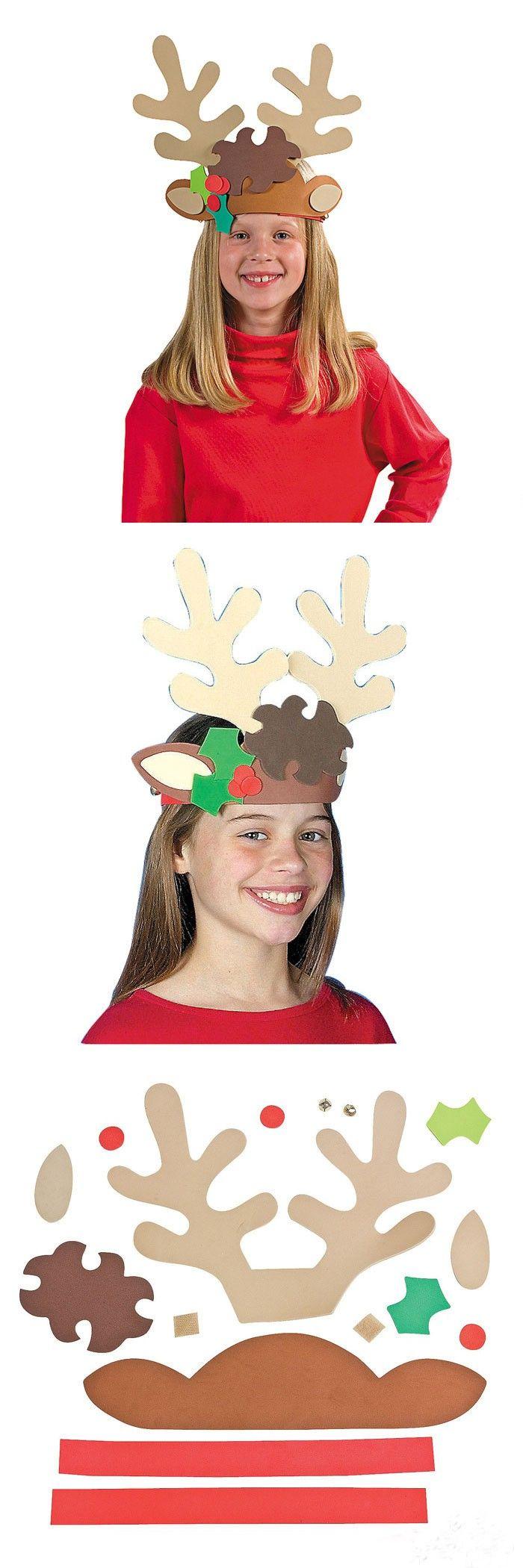 12PCS/LOT.DIY foam christmas elk antlers craft kits,Model building kits.Early educational toys.Kids toys.Kindergarten crafts.