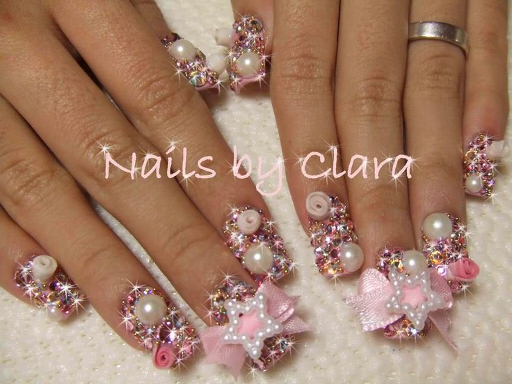 The 25 best crazy acrylic nails ideas on pinterest fun nails ails with bling petit nail diary prinsesfo Gallery