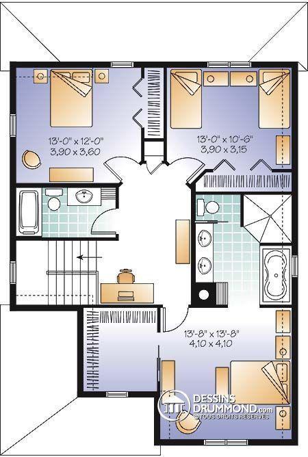 Détail du plan de Maison unifamiliale W2769-V1
