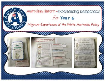 This product consists of three engaging and hands on activities to help your Year 6 students explore and understand the experiences of democracy by Australian migrants. This product specifically looks at the dictation test, the deportation of Pacific Islander workers and the internment of migrants during war time.