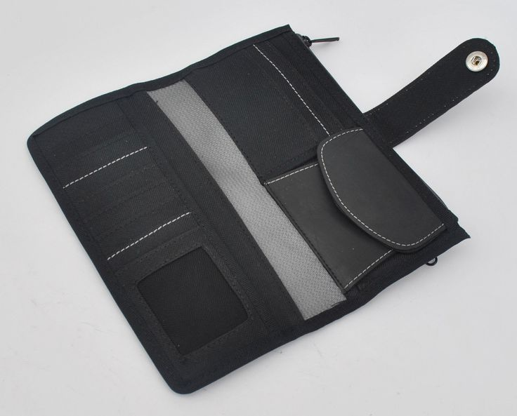 Long Recycled Rubber Wallet (Grey)