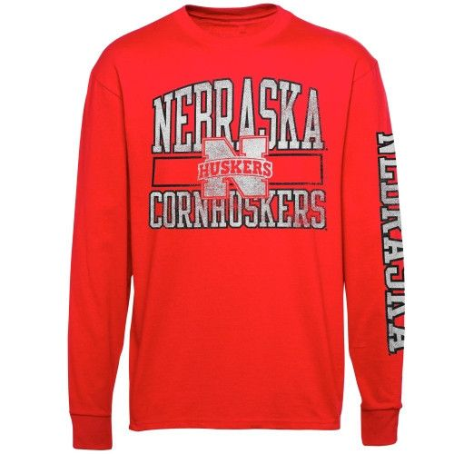 Nebraska Cornhuskers Alta Gracia (Fair Trade) Manuel Long Sleeve T-Shirt -  Scarlet