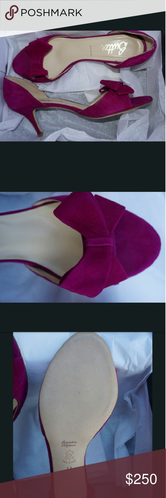 Butter Shoes D'orsay Heel Beautiful D'orsay heel, in a lovely raspberry tone. Never worn, in size 13. Butter Shoes Shoes Heels
