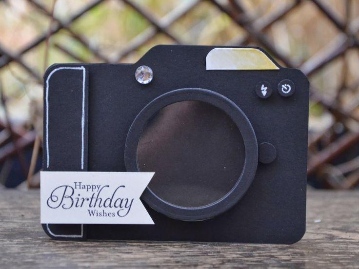 Getting Snappy! Super jolie Carte d'Anniversaire à offrir à un amateur de photographie!
