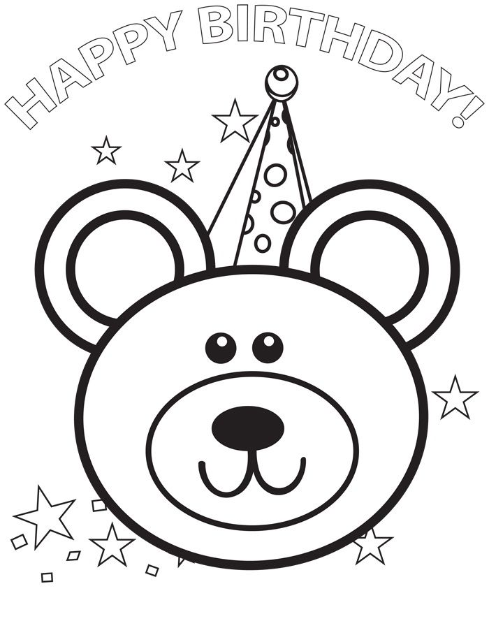 Free Printable Happy Birthday Coloring Pages For Kids | 생일