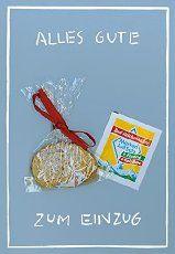 Inkognito: Mini-Geschenk-Karte Zum Einzug (Klappkarte mit Salz & Brot und passendem Umschlag)