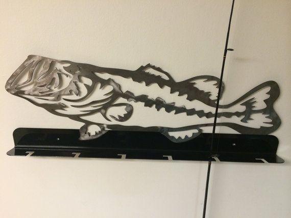 Fishing pole rack pole holder by MetalArtDesignz on Etsy