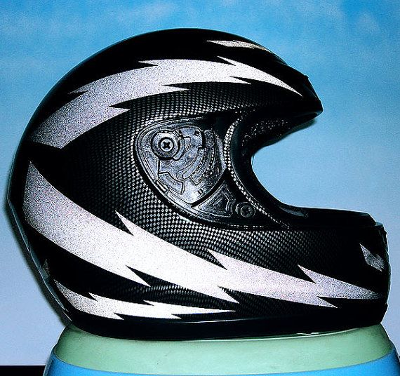 Lightning Hyper Reflective Decal Motorcycle Helmet Safety Sticker