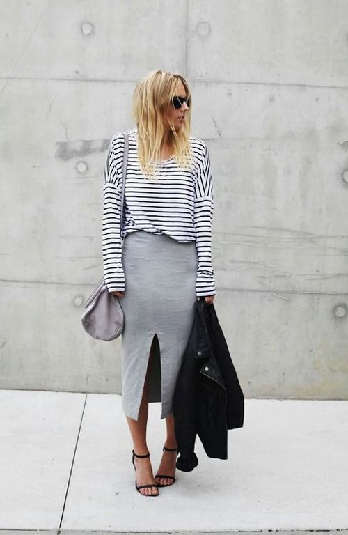 A must-have midi skirt.