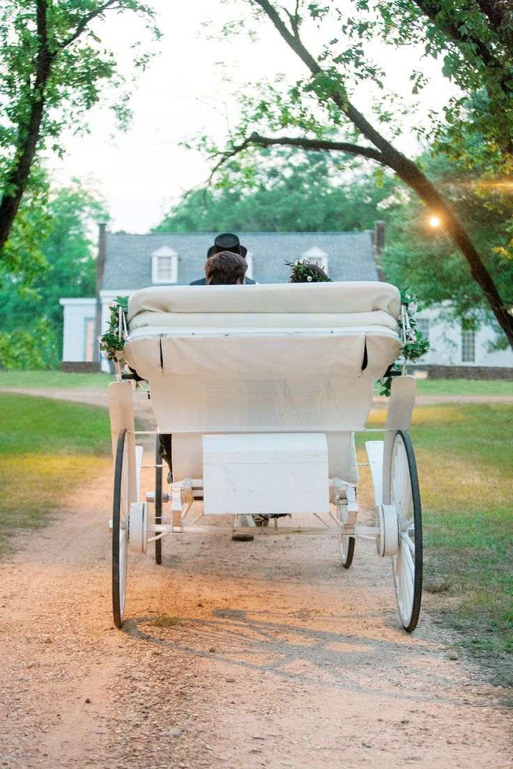 Horse Drawn Carriage To Wedding Reception Birmingham Al