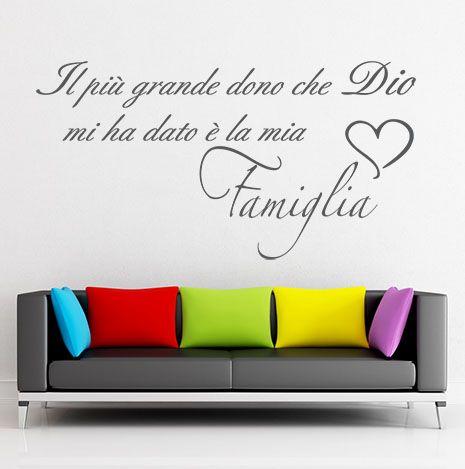 wall sticker HOME & FAMILY Famiglia dono di Dio big