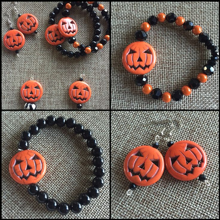 I love ghosts, witches & bats but thought these pumpkins were so cute!!  #halloween #pumpkins https://www.etsy.com/listing/479526097/halloween-earrings-pumpkin-earrings