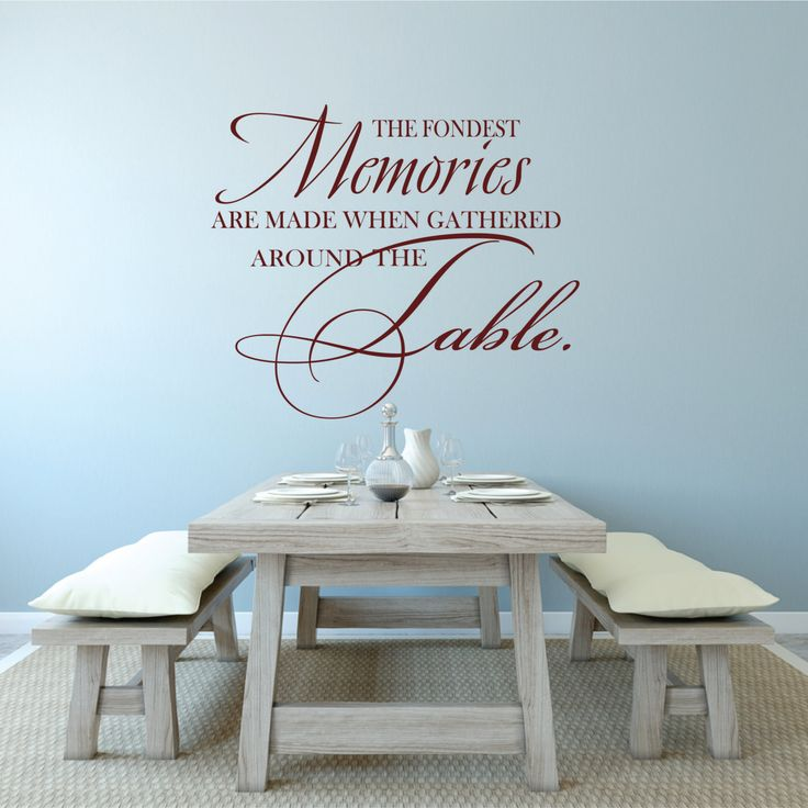 Dining Room Decal Family Wall Table Decor The Fondest Memories Are Made Gathered Around