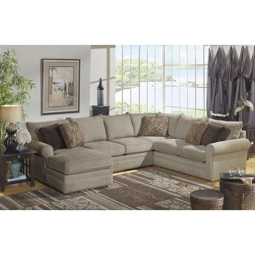 Hickory Craft 7748 Sectional Sofa with Left Side Chaise   Godby Home  Furnishings   Sofa Sectional. 17 best Furniture images on Pinterest