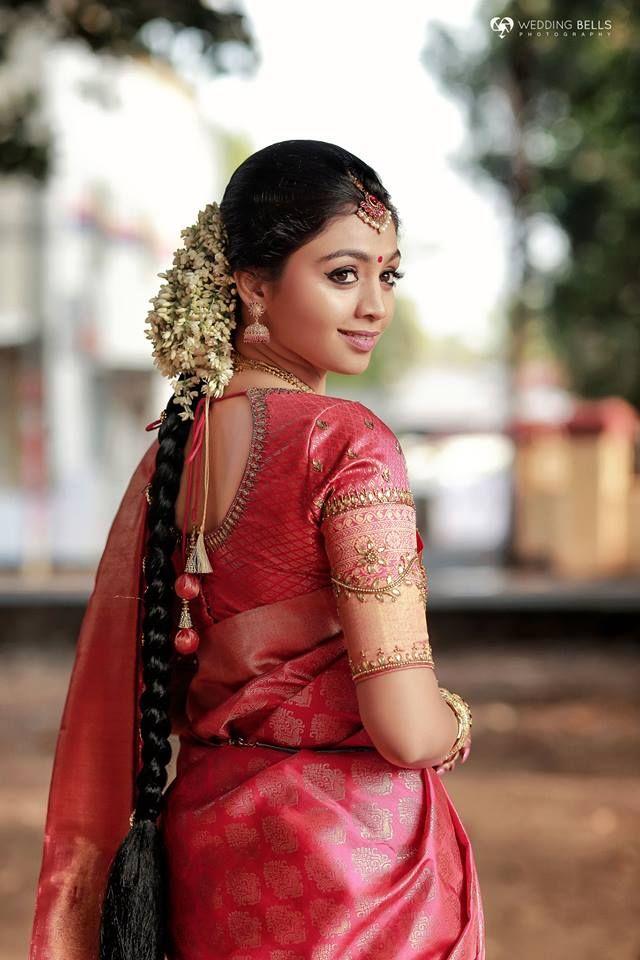 Priyanka Sachin Ezwed Real Wedding With Images Kerala Wedding Saree Wedding Saree Collection Wedding Saree Blouse