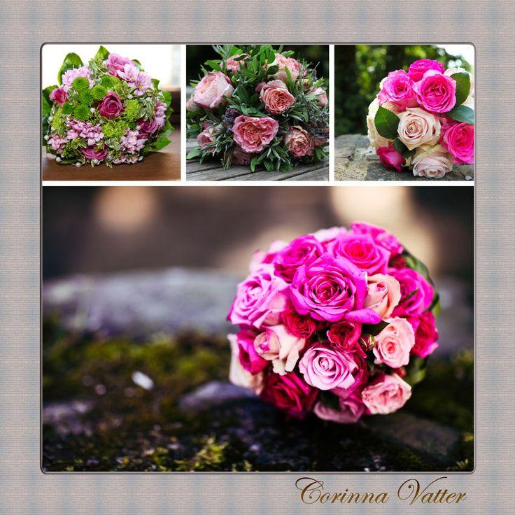 Brautstrauss pink grün  Bridal bouquet pink green  Brautstrauß ...