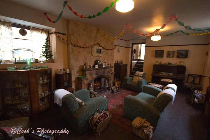 Christmas Decorations In A 1940s House At The Old Forge