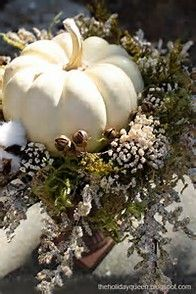 Fall White Pumpkin Centerpiece