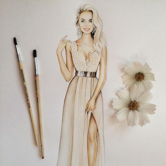 Иллюстрация для потрясающей красоты заказчицы❤️ #иллюстрация #акварель #InstaSize #illustration #illustrationfashion #fashion #draw #drawing #daily_art #art #artist #artgram #artwork #fashionsketch #fashionillustration #sketch #sketches #stargram