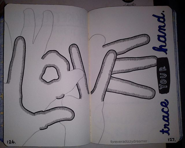 Wreck This Journal:Trace your hands