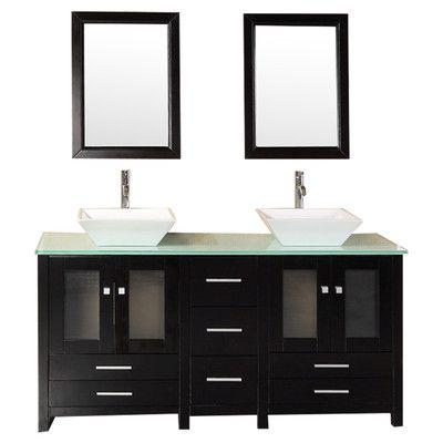 de salle de bains conception de salle de bains salles de bains double vasque lavabos arlington 61 arlington double 61 bathroom vanity set - Home Depot Salle De Bain Vanite