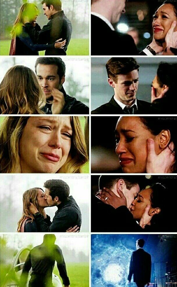 karamel and westallen parallel in the season finale of supergirl and the flash! so emotional. barry and mon-el having to leave their women :(